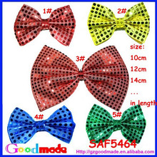 New arrivall halloween sequin bows christmas hair accessories colorful sequin bows with customized size