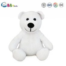 plush animal teddy bear for sales ICTI audits manufacturer OEM/ODM custom white bear kids toys promotion gift