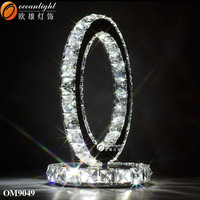round ring crystal table lamp ,ring table lamp for home decoration ,lighting accessories for table lamp OM9049