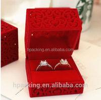 Wedding velvet jewelry gift boxes