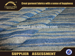 80 polyester 20 cotton T/C navy blue and white stripe fabric