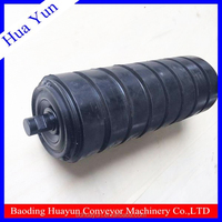 anti clogging belt conveyor rubber coating idler roller