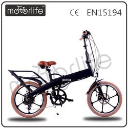 Motorlife/OEM Folding girl electric bike with a generator
