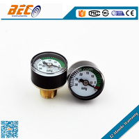 factory price wika style 25mm mini vacuum gauge with bourdon tube