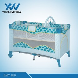 2015 new products aluminium crib baby play yard