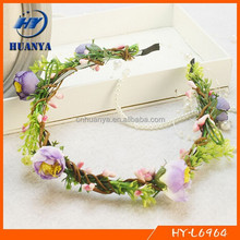 Braided fabric flower headband for girls party hair accessories