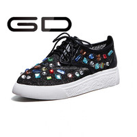 canvas shoes girl action girls sports diamante shoes