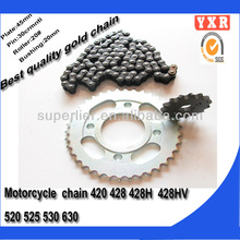 motorcycle parts,420h motorcycle chain,motorcycle chain and sprocket kits
