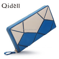 The new designer 2015 atmospheric geometry leather wallet candy lovely leather purse