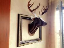Nuevo 2015 nórdicos manualidades creativas, ciervo de madera la cabeza estante de la pared