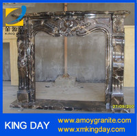 Dark emperador marble fireplace (Factory Directly+ Good Price)