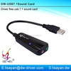 High quality 7.1 usb external sound card
