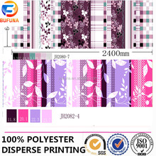 polyester stripe printing fabric for home textile/curtain/bedsheet