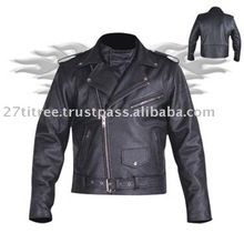 Men Black Biker Motorcycle Racing Genuine Leather Jacket with Free CE Armors