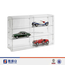 Yageli perspex model car display cases/model car collection display shelf