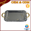 2015 new square face towel tray/party serving food tray/stainless steel bbq trays T475