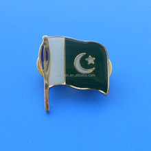 metal country flags gold lapel pin label pin for Pakistan