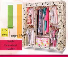 2015 new designs modern diy bedroom furniture oxford fabric wardrobe closet