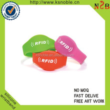 Waterproof Smart custom logo Silicone RFID Wristband for Event