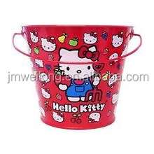 Cute Child Gift Ice Bucket/Galvanized Metal Garden Flower Bucket/Garden Decoration