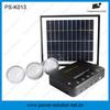 Portable mini solar home system with 3 bulbs