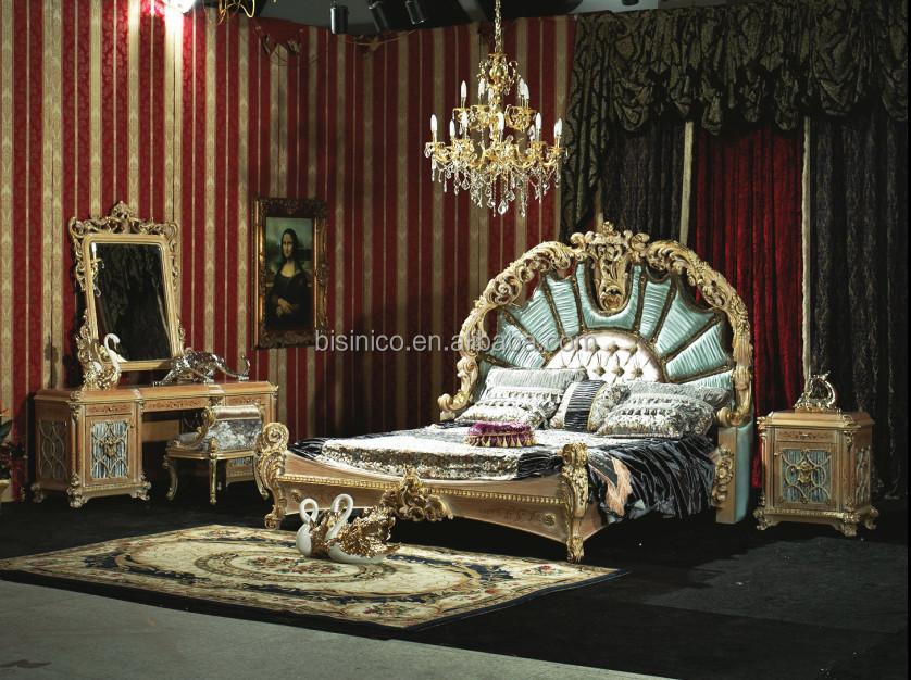 ... 4.jpg ... - Antique Royal European Style Solid Wood 5pcs Bedroom Furniture