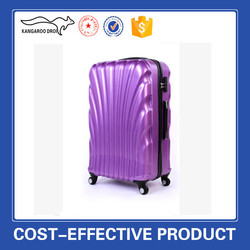 New design Pure PC travel colourful trolley luggage travel bags