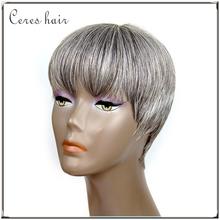 100% virgin remy brazilian grey human hair wigs