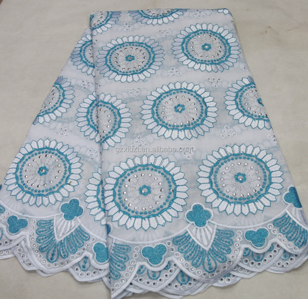 Beautiful dress design swiss cotton voile lace fabric