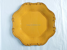 PP material decorative charger plastic plates with classical