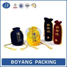 Classical wine velvet bags