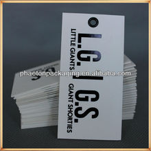Custom printed tag big size die cut large hang tag for bags, garments, machine, promotion with gold hot stamping