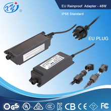 230v ac to 12v dc waterproof led driver / cctv switching power supply with EN61558/61347 UL1310 IP68 standard