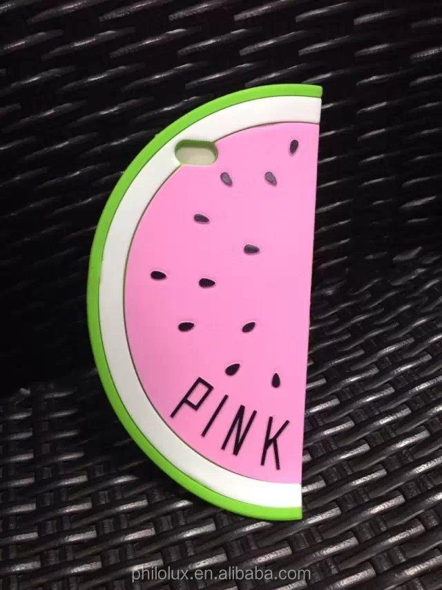 New Arrival 3D Victoriau0026#39;s Pink Secret Unique Watermelon Silicone case ...
