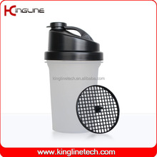 Cheap 500ml sport protein shake mixer shaker bottle with logo with filter OEM (KL-7012B)