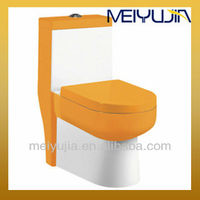 Siphonic bathroom ceramic one piece toilet economic s-trap colored toilets