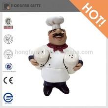 chef de cerámica sal y pimienta shakers