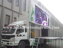 AUMARK led stage advertising vehicle,led mobile stage truck for sale,LED display screen stage car