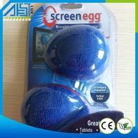 2015 Blue Microfiber Screen Egg Cleaner Micro Clean Microfiber Screen Cleaner Mobile Smartphone Plush Screen Cleaner Wholesale