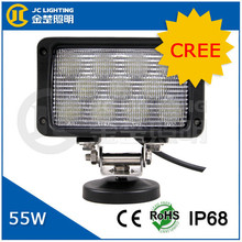 6 inch 55W high performance CE RoHS IP68 approved 12 volt led work light for truck, jeep, forlift
