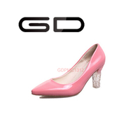 GD 2015 New invention Women's LED high pump shoes shinny in the night colorful LED lights