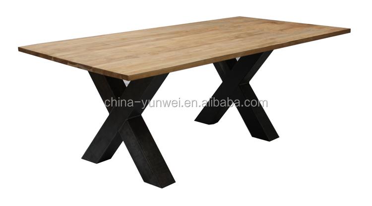 china oem hohe qualität großhandel x form kreuz sockel edelstahl, Esstisch ideennn