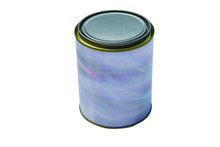 Raser 1L/quart round metal chemical paint tin can tripletite opening