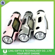 Business gift led torch light world time clock