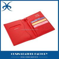 Red color short fashion style passport holder Travel Wallet Passport Bag Credit ID Card Cash Purse