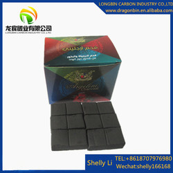 Coconut material longer burning time smokless hookah cube charcoal