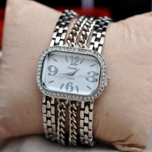Made in China fashion gold or silver chain watch women vintage bracelet watch