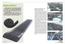Rubber filter belt