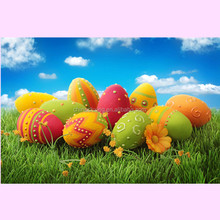 Giant easter egg DIY hand-painted colorful egg model children's toys Creative Painting