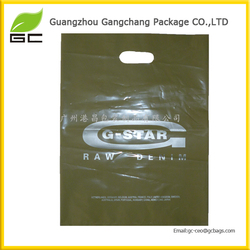 Wholesale lower price custom printed bags shopping die cut plastic bag